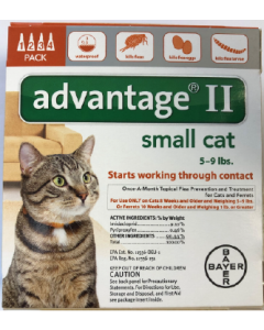 5-9 Advantage II Small Cat 4 Month