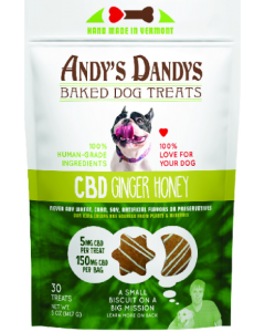 Andy's Dandy's Dog Treats CBD Ginger Honey 5oz