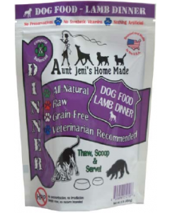 Aunt Jeni's Lamb Dog Food 1lb