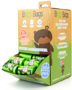 Beco Pet Single Roll Counter Top Stand 64 Rolls 15ct Poop Bags