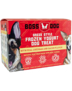 3.5oz 4-Pack Boss Dog Yogurt Real Cheddar & Bacon
