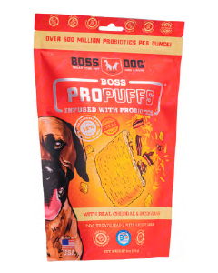 Boss Dog Propuffs Cheddar & Bacon Dog Treat 6oz