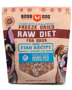 12oz Boss Dog Fish Recipe Freeze Dried Complete
