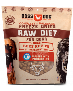 12oz Boss Dog Beef Recipe Freeze Dried Complete