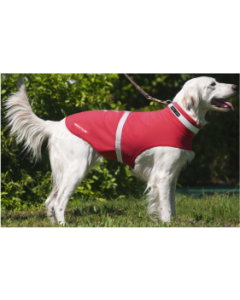 Large Corky's Reflective Wear Dog Jacket Red