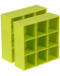 Dexas 2 pack PackCube Ice Tray Green