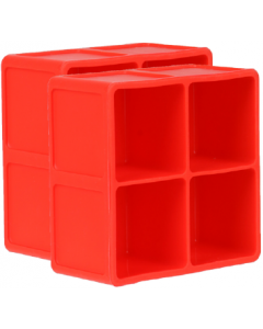 Dexas 2 pack Extra Large PackCube Ice Tray Red