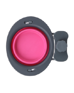 Dexas 1 Cup Collapsible Kennel Bowl Pink