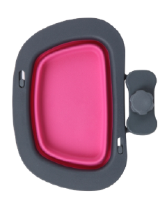 Dexas 2 Cup Collapsible Kennel Bowl Pink