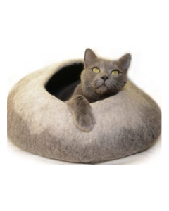 Dharma Dog Karma Cat Wool Pet Cave Ombre Natural Cat Bed