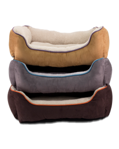 Cozy Pet Faux Suede Box Dog Bed 36""