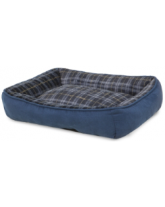 Doskocil 18x22 Rectangular Plaid Dog Bed