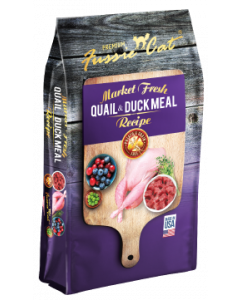 4# Fussie Cat Quail & Duck Meal Dry Cat Food