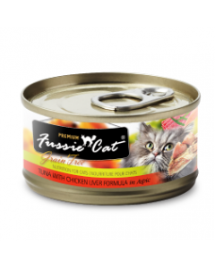 Fussie Cat Tuna with Chicken Liver Can Cat Food 2.82oz