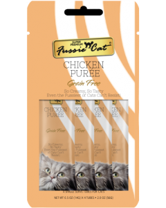 4pk Fussie Cat Chicken Puree Cat Treat .5oz