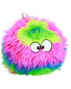 Go Dog Large Rainbow Furball with Chew Guard Dog Toy