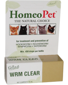 Homeopet 15ml Worm Clear Feline Solution