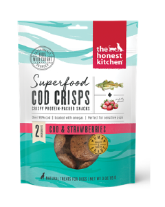 3oz Honest Kitchen Superfood Cod Crisps Cod & Strawberry