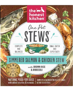 10.5oz Honest Kitchen One Pot Stew Salmon Chicken Stew Broccoli,Brown Rice