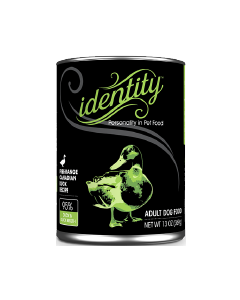 13oz Identity 95% Cage-Free Canadian Duck Canned Dog Food