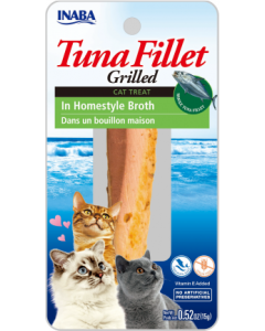 Inaba Grilled Fillets Tuna in Homestyle Broth Cat Treat .52oz