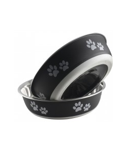 Buster Bowls By Indipets Charcoal 14 cm Small