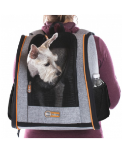 """K&H Backpack Pet Carrier Gray 14"""" x 9.5"""" x 15.75"""""""
