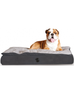 K&H Pet 40x50 Feather Top Orthopedic Dog Bed Gray