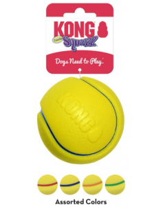 Kong PCT1B Squeezz Tennis Assorted Large
