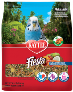 4.5# Kaytee Foods Fiesta Parakeet Bird Food