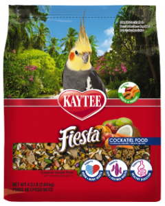4.5# Kaytee Foods Fiesta Cockatiel Bird Food