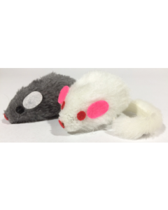 Large Fur Felt-Face Mice Cat Toy