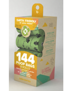 Loyal Friend 144 Eco-Friendly Unscented Poop Bags