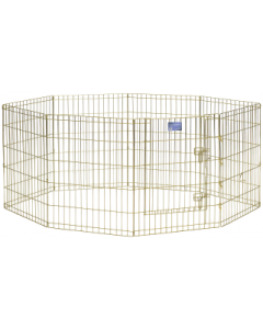 "Midwest 30"" Exercise Pen Gold 8 Panel with Door"