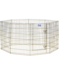 "Midwest 36"" Exercise Pen Gold 8 Panel with Door"