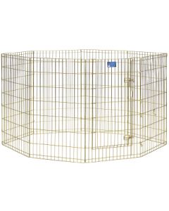 "Midwest 42"" Exercise Pen Gold 8 Panel with Door"