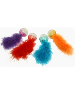 Multipet Assorted Lattice Ball With Feather