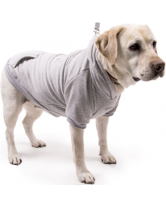 My Canine Kids Extra Large Embossed Dog Hoodie Gray