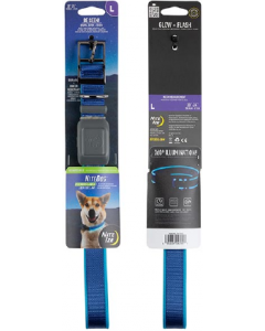 NightDog Rechargeable LED Collar Blue Blue Large