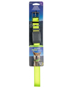 NightDog Rechargeable LED Collar Lime Green Large