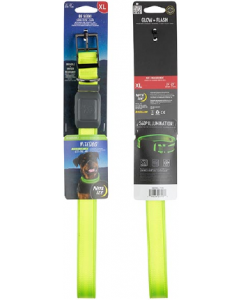 NightDog Rechargeable LED Collar Lime Green Extra Large