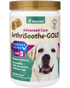 NaturVet 180ct ArthriSoothe-GOLD Soft Chew