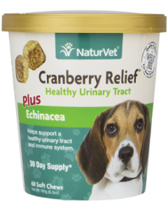 NaturVet 60ct Cranberry Relief Plus Echinacea Soft Chew