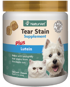 NaturVet 120ct Tear Stain Plus Lutein Soft Chew