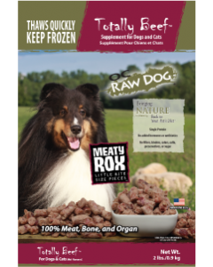 OC Raw Rox Meaty Treat Beef Dog Food 2lb