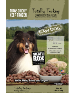 OC Raw Rox Meaty Treat Turkey Dog Food 2lb
