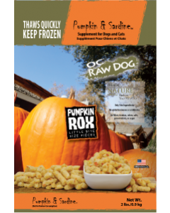 OC Raw Rox Pumpkin & Sardine Dog Food 2lb