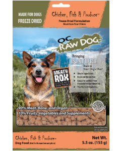 5.5oz Freeze Dried Chicken & Fish Meaty Rox Dog