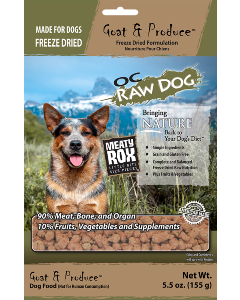 5.5oz Freeze Dried Goat Meaty Rox Dog