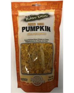 5.5oz Oc Raw Freeze Dried Pumpkin Treats